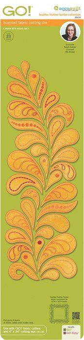 Shop | Category: AccuQuilt GO! Dies | Product: Heather Feather Border die