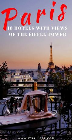 18 Paris Hotels With Views Of Eiffel Tower