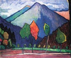 The Blue Mountain by Gabriele Munter (1909)