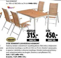 Archiwum | Stół lub krzesło Vermont - Jysk 28. 06. 2012 - 11. 07. 2012…