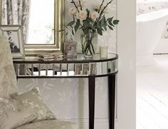 Welcome to Laura Ashley where you can shop online for exclusive home furnishings and womenswear_EN White Cottage, Laura Ashley, Home Decor Inspiration, Linen Bedding, Console Table, Home Furnishings, Entryway Tables, Master Bedroom, Lounge