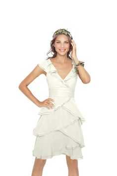 watters 8514 $272 cute v back, crinkle chiffon, doesn't really come in mint or coral