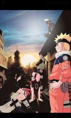 Naruto , Sasuke , Sakura , Iruka and Kakashi - My Wallpaper Naruto And Sasuke, Anime Naruto, Naruto Team 7, Naruto E Boruto, Kakashi Sensei, Naruto Cute, Sakura And Sasuke, Manga Anime, Naruhina