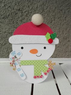 SNOWMAN+SHAPED+CARD - Scrapbook.com #doodlebugdesign #silhouette #shapedcard #snowmancard
