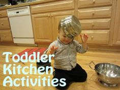 Some sanity-saving toddler activities for when you're trying to cook dinner with a rascally little one like mine.