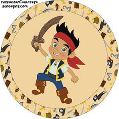 Jake and the Neverland Pirates - Full Kit with frames for invitations, labels for snacks, souvenirs and pictures! | Making Our Party