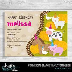 http://www.mujka.ca Petting zoo birthday invitations