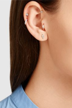 Maria Tash | 18-karat rose gold diamond earring | NET-A-PORTER.COM