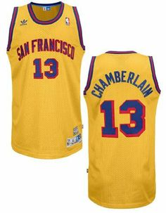 Adidas Wilt Chamberlain San Francisco Warriors Embroidered Replica Throwback  Basketball Jersey (XL 48) 9e6995e6a