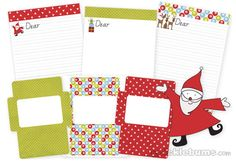 100 Days of Christmas – Day 65 - Send a letter to Santa with this free printable Writing Set from Picklebums.