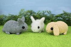 Baby Bunnies - three amigurumi bunny rabbit PDF CROCHET PATTERNS. $6.25, via Etsy.