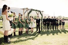 DIY Reclaimed Wood Wedding Arch in Red Lodge,