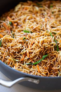 Cantonese-Style Pan-Fried Noodles Recipe Cantonese-Style Pan-Fried Noodles – smokey noodles just like your favorite restaurants and it's a quick 30 minutes to make! Vegetarian Recipes, Cooking Recipes, Healthy Recipes, Pan Fried Noodles, Hong Kong Noodles, Egg Noodles, Ramen Noodle Recipes, Chinese Noodle Recipes, Chinese Fried Noodles Recipe