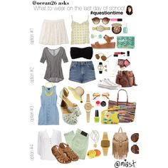#questiontime What to wear on the last day of school by miast on Polyvore