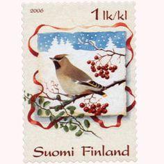 Postimerkki: Tilhi | Suomen postimerkit