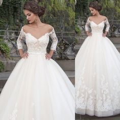 Ball Gown Wedding Dresses ❤ See more : http://bugelinlik.com/en/wedding-dresses/ball-gown/4