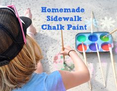 OC family homemade sidewalk chalk paint