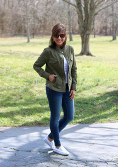 Spring Style: Utility Jacket and Skinny jeans
