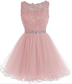 Find Short Homecoming Dresses Lace Open Back Cocktail Party Dress Tulle Prom Dress Appliques online. Shop the latest collection of Short Homecoming Dresses Lace Open Back Cocktail Party Dress Tulle Prom Dress Appliques from the popular stores - all in one Dama Dresses, Pink Formal Dresses, Hoco Dresses, Prom Party Dresses, Party Gowns, Quinceanera Dresses, Homecoming Dresses, Evening Dresses, Elegant Dresses