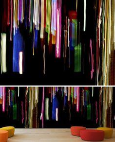 Fancy - Abstract Digital-Pattern Wallpaper Textiles   Designs & Ideas on Dornob