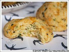 Biscuits moelleux au cheddar et ciboulette | Marmotte cuisine !