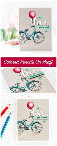 Pencils on kraft Valentine's card by Debby Hughes. Find out more about the Valentine's card by clicking on the following link: http://limedoodledesign.com/2017/01/pencils-on-kraft-lime-light-update/ #SSSFAVE