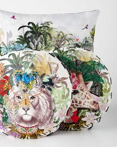 Digitally+Printed+Pillows+by+Christian+Lacroix+at+Horchow.