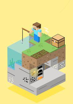 Minecraft Drawings, Minecraft Pictures, Cool Minecraft Houses, Minecraft Art, Minecraft Designs, Minecraft Wallpaper, Minecraft Architecture, Bioshock, Animation Film