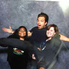 Sebastian with a couple of fans at Wizard World Comic Con 2014