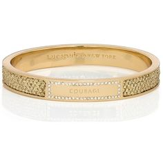 Kate Spade On Purpose Pave Friendship Bangle ($78) ❤ liked on Polyvore featuring jewelry, bracelets, pave bangle, handcrafted jewelry, bracelets & bangles, hand crafted jewelry and friendship bangles