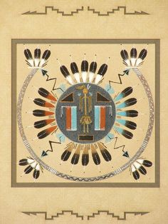 Hand Made Native American Indian Navajo Sand Art Sand Paintings