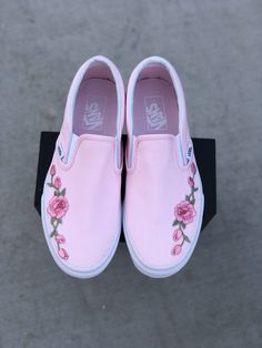 I love the white slip on AMD rose embroidered better but I like these