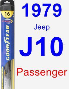 Passenger Wiper Blade for 1979 Jeep J10 - Hybrid