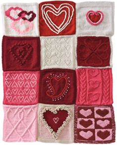 Ravelry: Have a Heart Afghan pattern by Knit Simple,  free