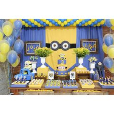 Projeto e execucao luciana lourenco Www.lourencoassessoria.com.br Minions Birthday Theme, Minion Party Theme, Despicable Me Party, Kids Party Themes, 2nd Birthday Parties, Birthday Party Decorations, Harry Birthday, Boy Birthday, Minion Baby Shower