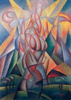 Gerardo Dottori - Forze ascensionali 1923