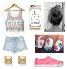 """Tumblr Inspired Look"" by oh-fashionista ❤ liked on Polyvore featuring Vans, Casetify and Palm Beach Jewelry"