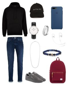"""men's  polyvore"" by jesy-smith on Polyvore featuring Topman, River Island, Puma, Herschel Supply Co., Daniel Wellington, MIANSAI, West Coast Jewelry, men's fashion et menswear"