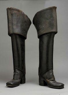 Mens boots ca. 1700-1710 via The Museum of Fine Arts, Boston