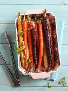 How about some yummy roasted carrots for your Easter meal? These look fabulous!