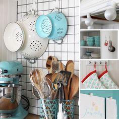 Quick Kitchen Organizing Ideas home diy Retro Home Decor, Diy Home Decor, Vintage Kitchen Decor, Home Decor Kitchen, Kitchen Interior, Kitchen Design, Diy Casa, Rental Decorating, Decorating Kitchen