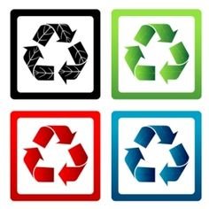 Free recycle icon vector pack