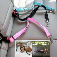 Wish | Dog Pet Car Safety Seat Belt Harness Restraint Lead Leash Travel Clip Dogs Supplies Accessories for Travel