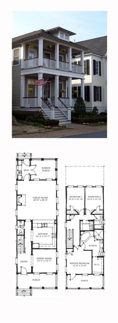 Historic Style COOL House Plan ID: chp-38667 | Total Living Area: 2143 sq. ft., 3 bedrooms and 2.5 bathrooms. #historichome