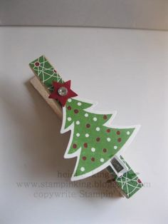 Christmas Tree Clothes Pin From Stampinkingblogspot Picture Only