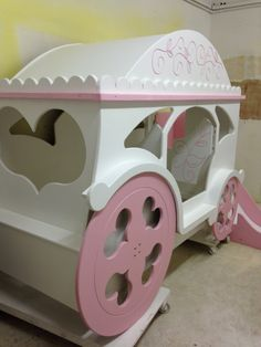 Carriage bed, princess bed, slide bed , girly bed by www.dreamcraftfurniture.co.uk