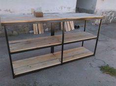 #mnvcreations #palletbar #industrialdesign #wood #metal