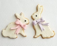 Easter Bunny Cookies With Bows