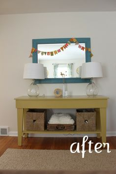 cutie table- color, etc. : ) Lovin the whole room too-- soo bright