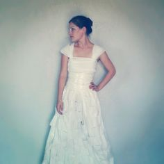 Another gorgeous toilet paper wedding dress by my girls.  That's one way to cut costs!  ;)